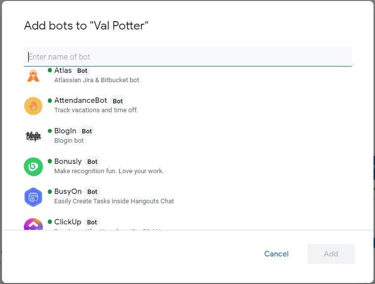 04 bots de chat de colaboración de gmail