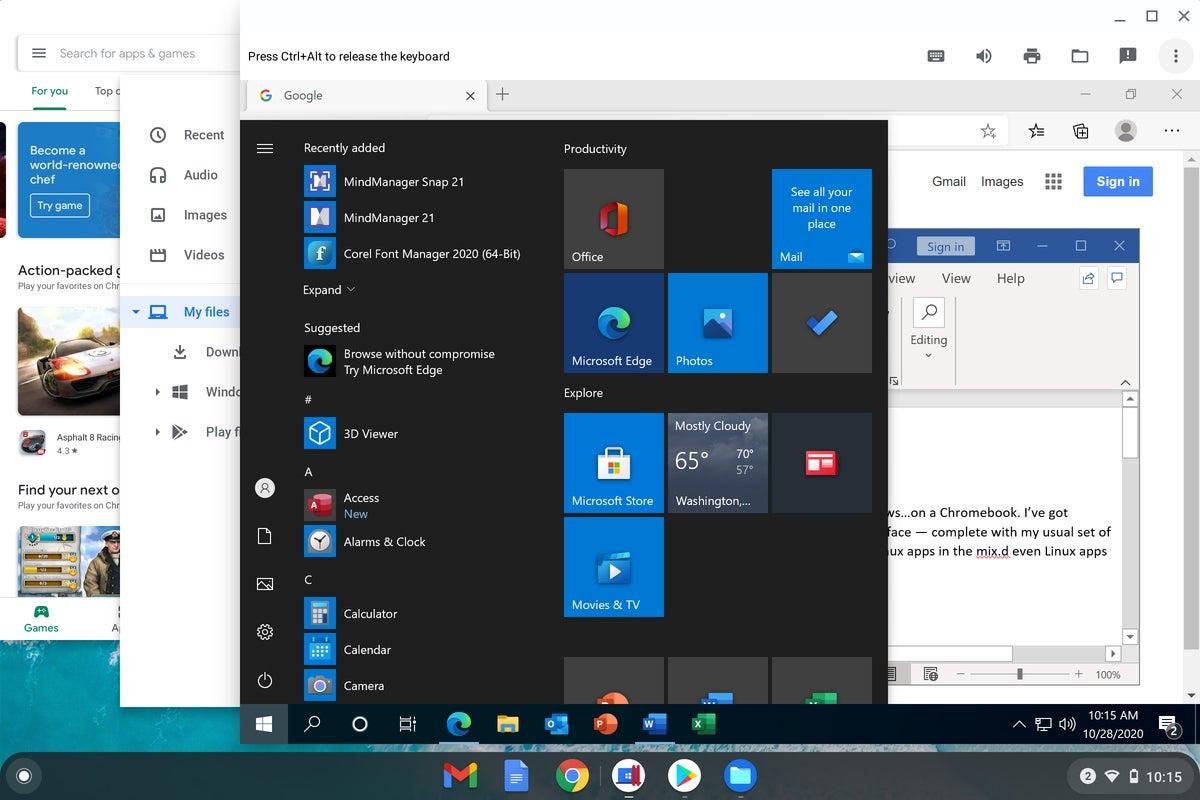 Chrome OS - Windows start menu