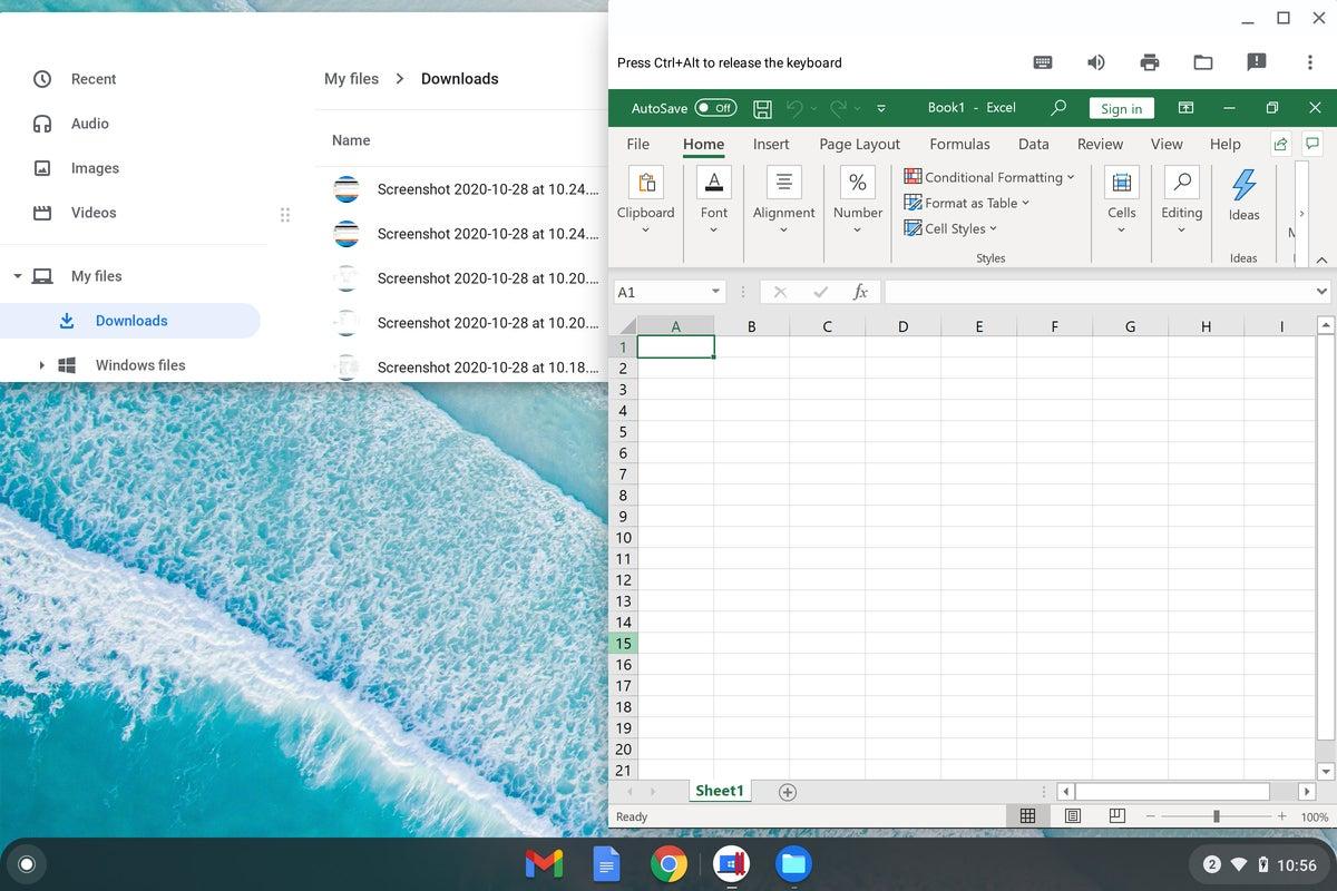 Chrome OS - Windows no taskbar