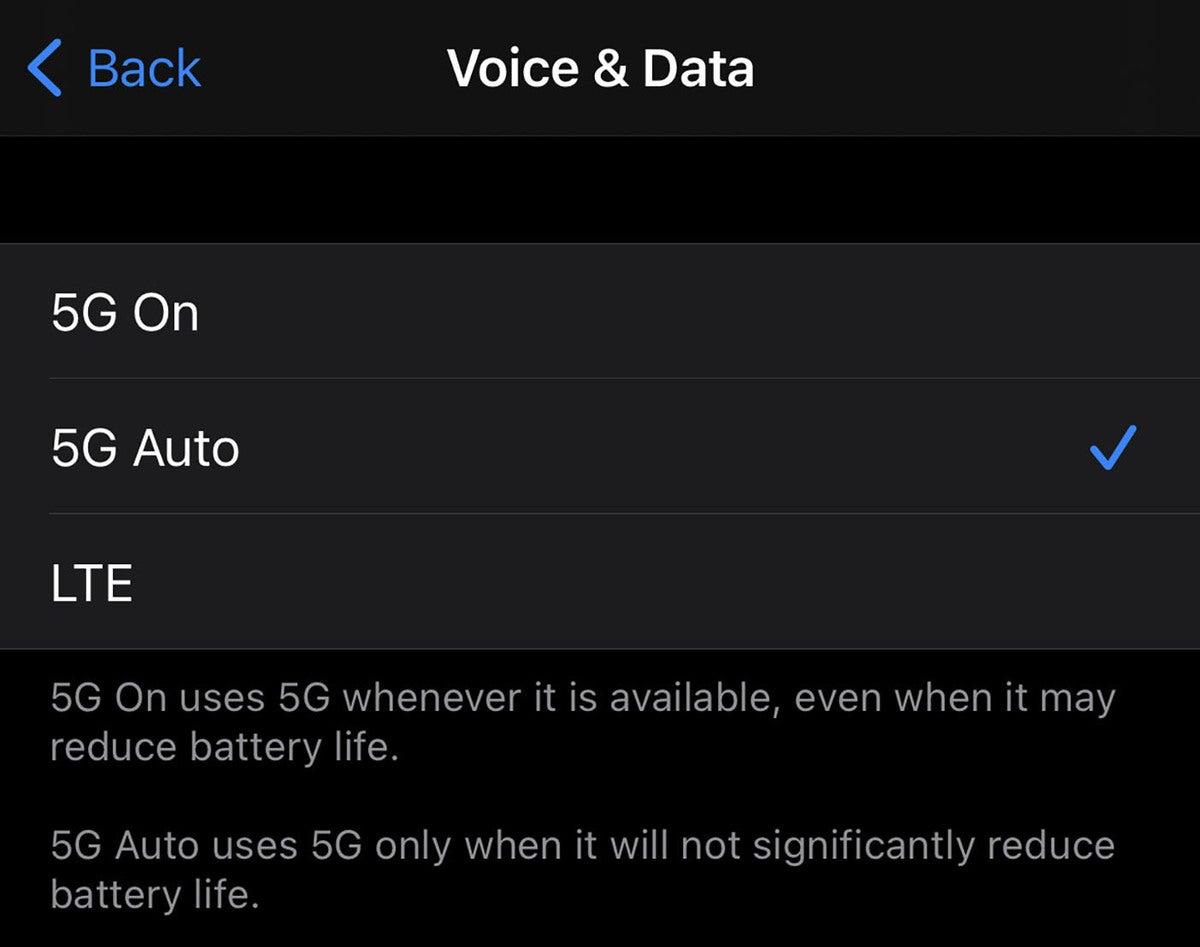 5g iphone options