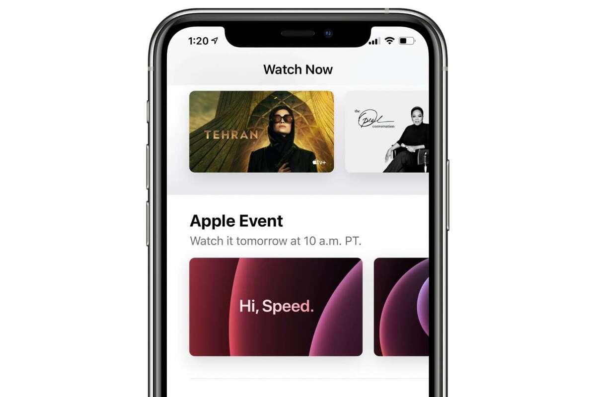 apple tv iphone hi speed event