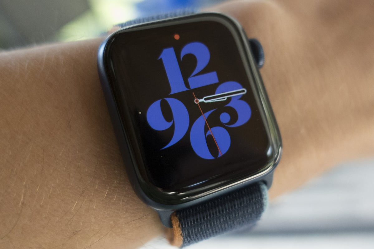 apple watch series 6 typography