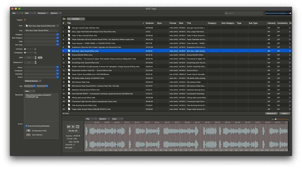 audio design desk tag audio