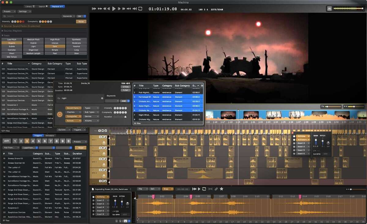 audio design desk ui