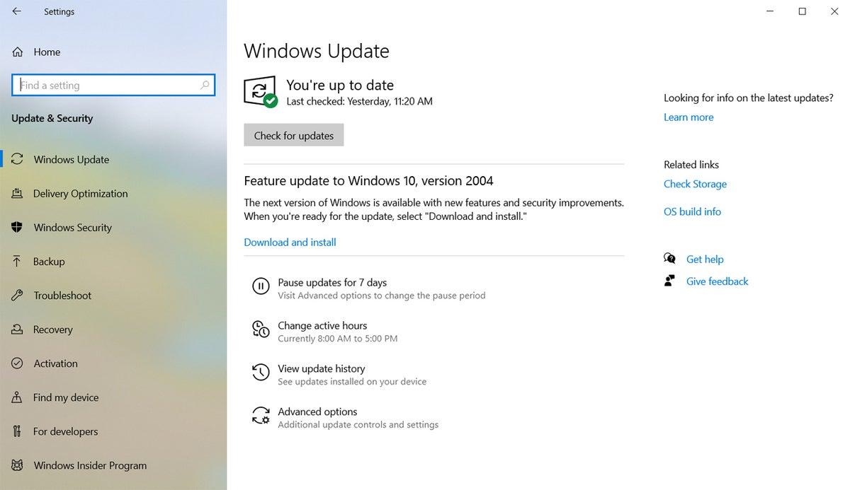 block win10 20h2 02 windows update