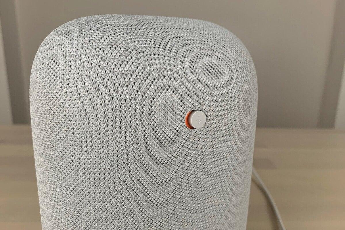 google nest audio mic mute switch