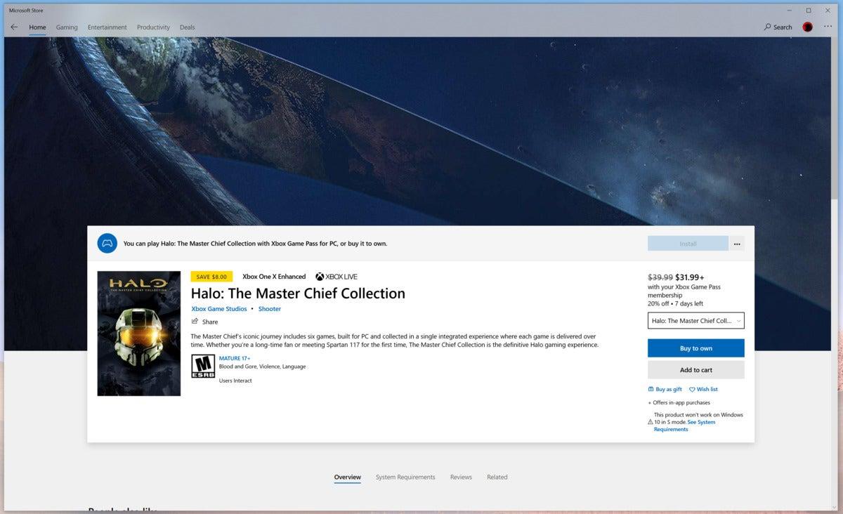 Microsoft Surface Laptop Go halo microsoft store windows 10 in s mode