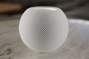 homepod mini table white