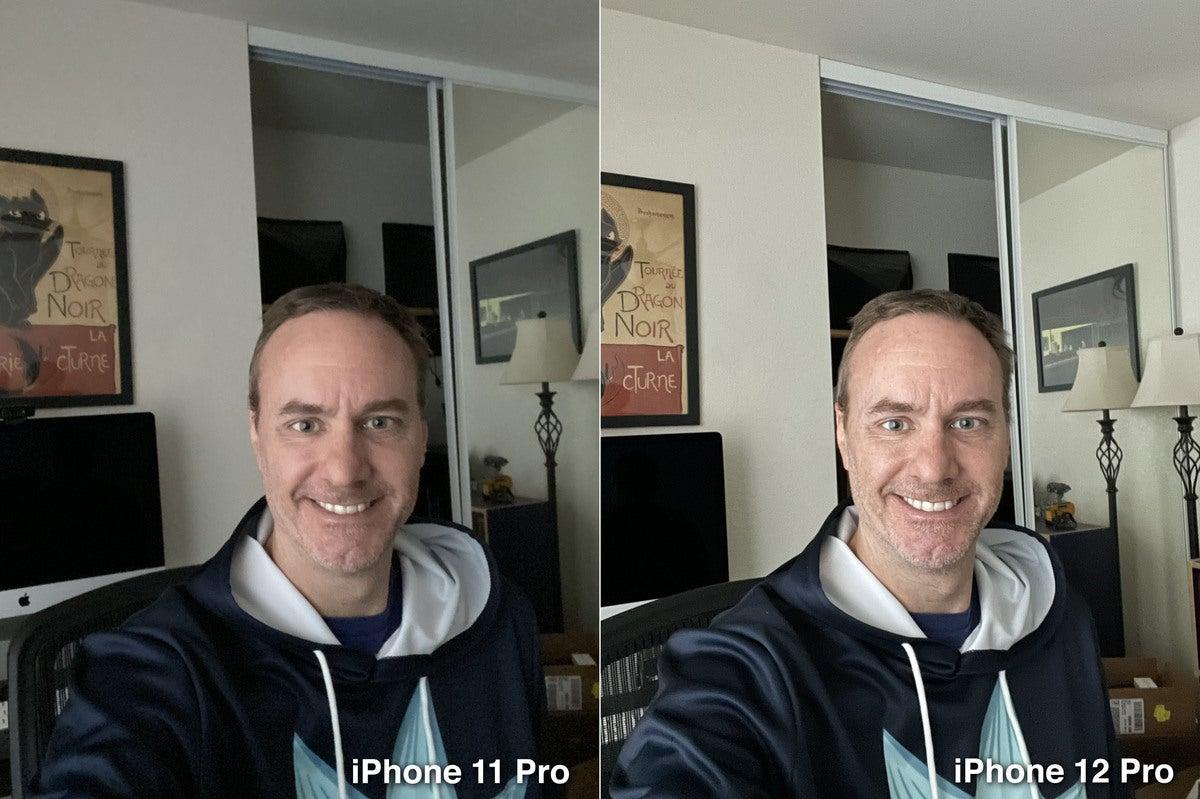 iphone 12 pro night selfie