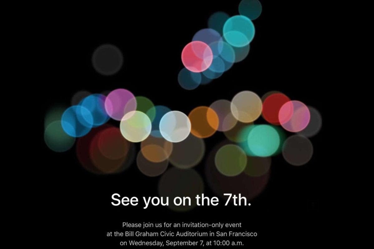 iphone 7 event invite