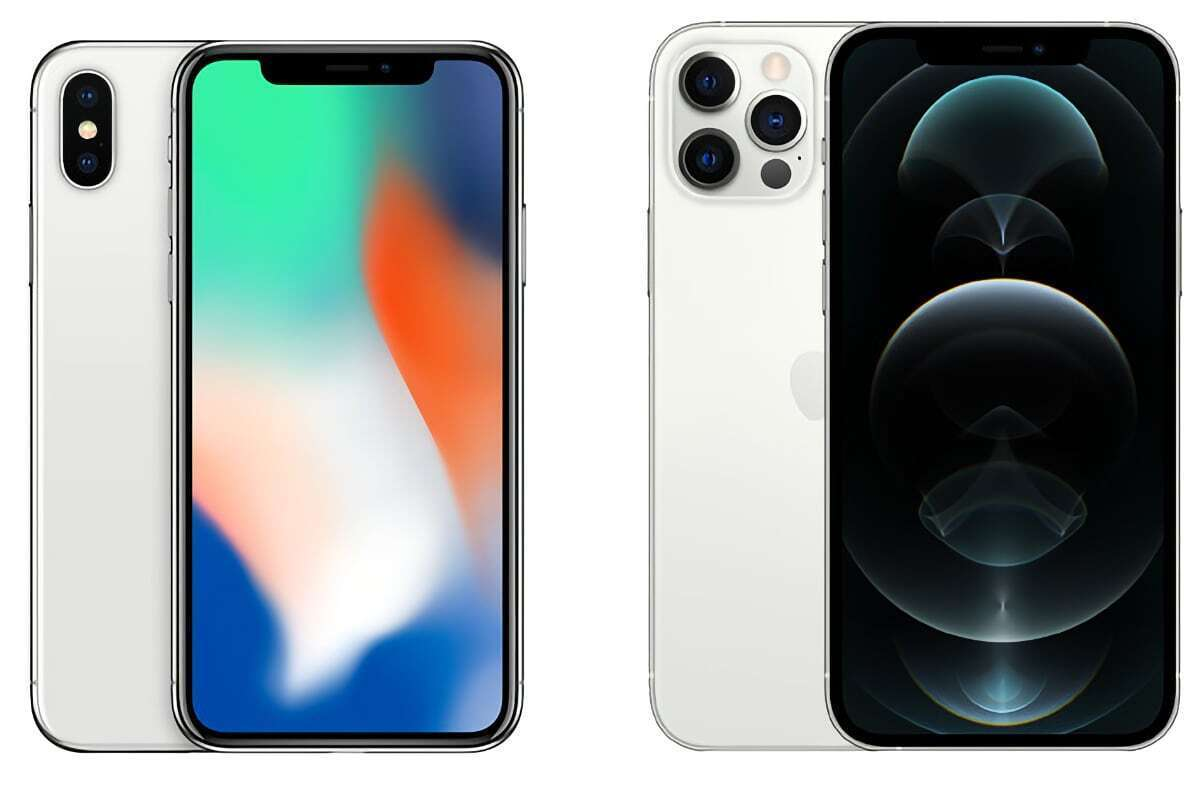 iphone x iphone 12 pro