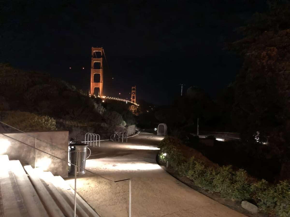 iphone x night landscape