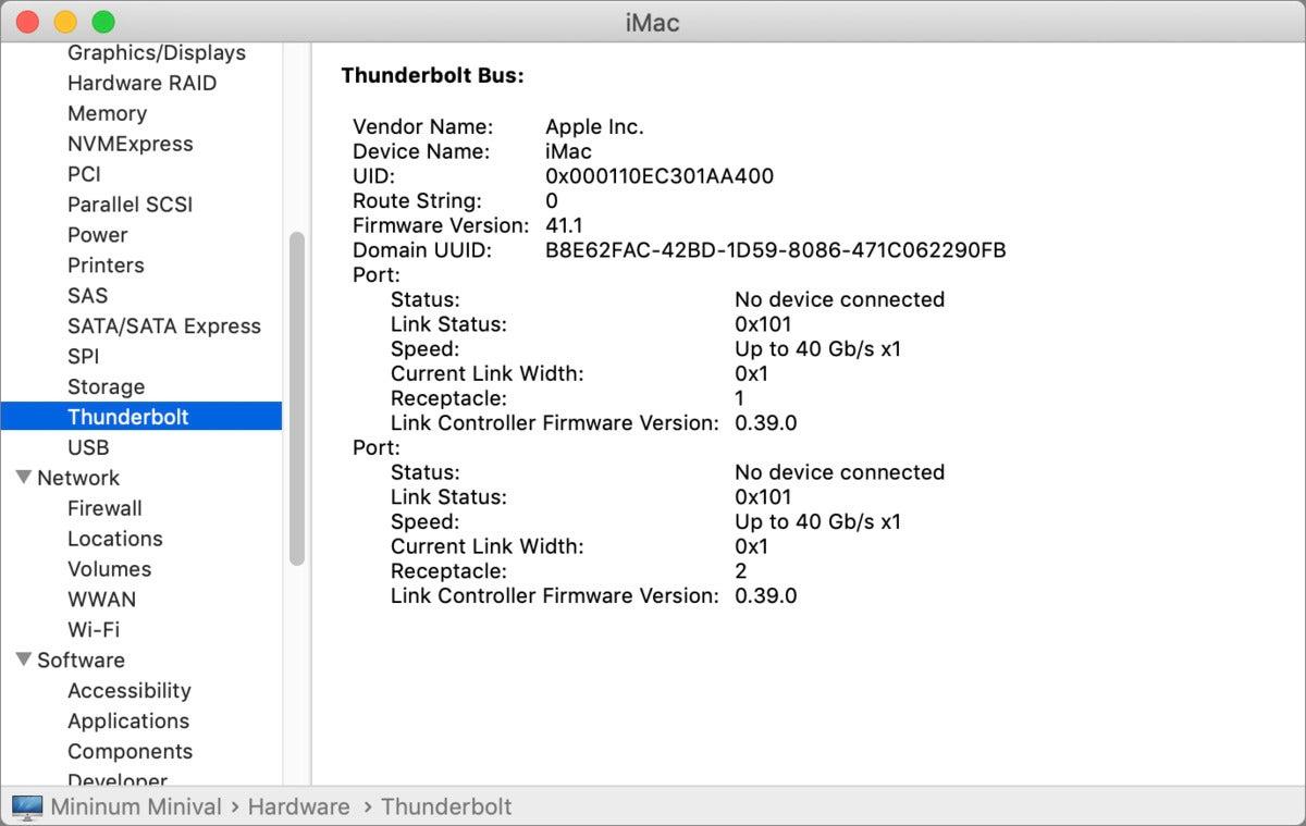 mac911 system information thunderbolt