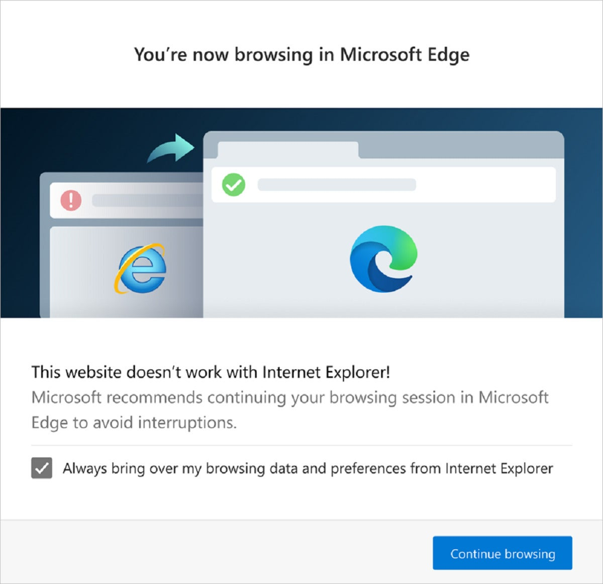 need edge dialog large 100864009 large - Why Microsoft has blocked hundreds of sites in Internet Explorer