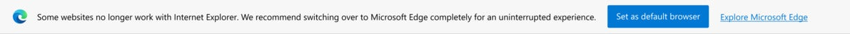 Microsoft need edge banner redirection