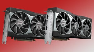 radeon 6000 cards on a red & white background