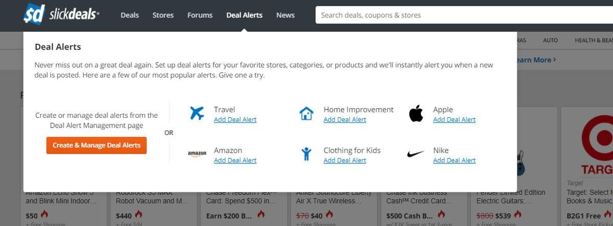 slickdeals deal alerts