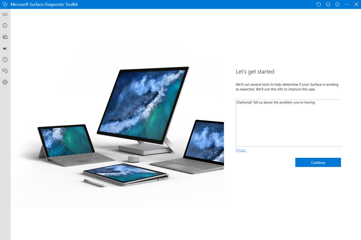 Microsoft Surface Laptop Go surface diagnostic toolkit