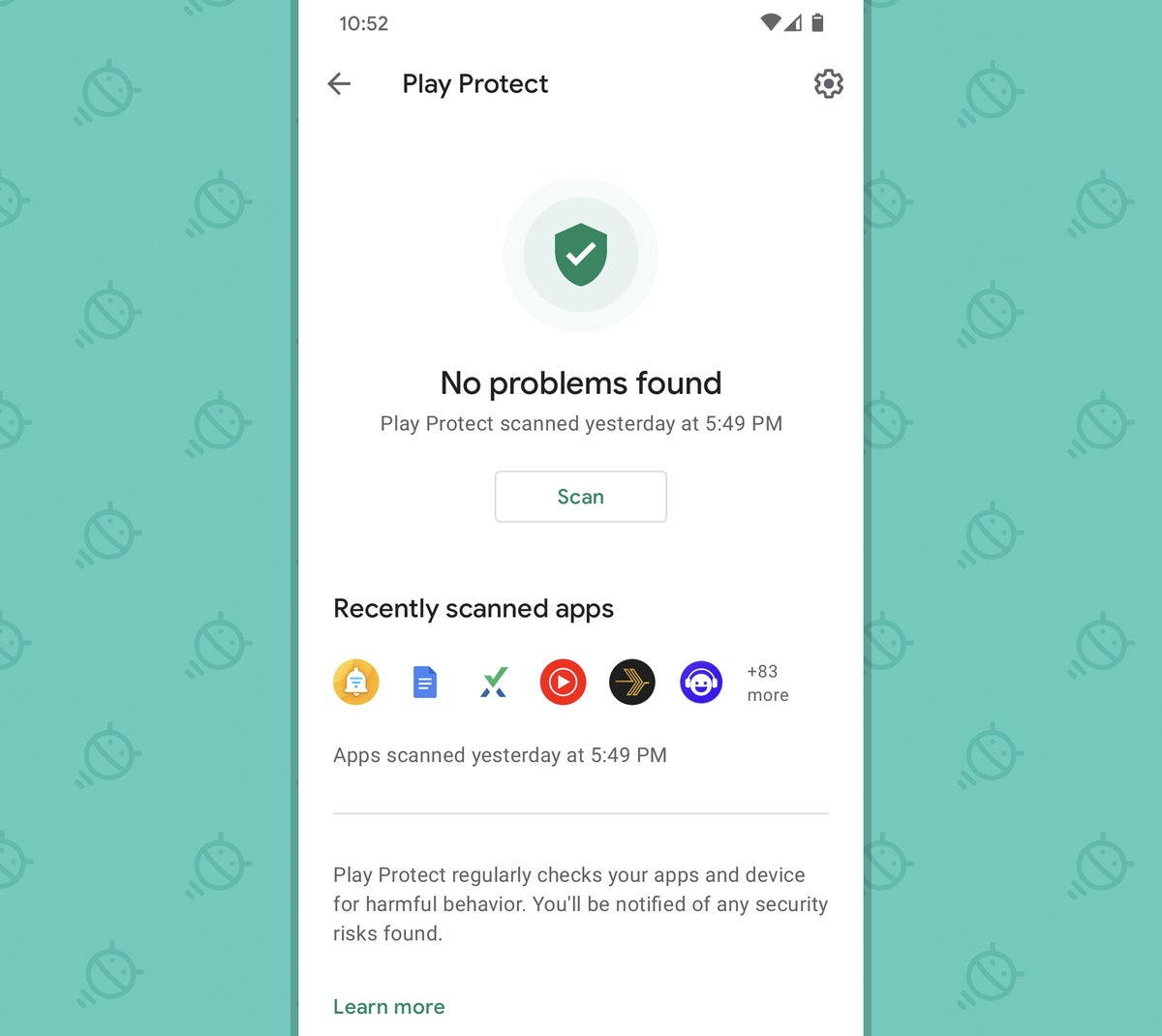Android Security Settings: Google Play Protect