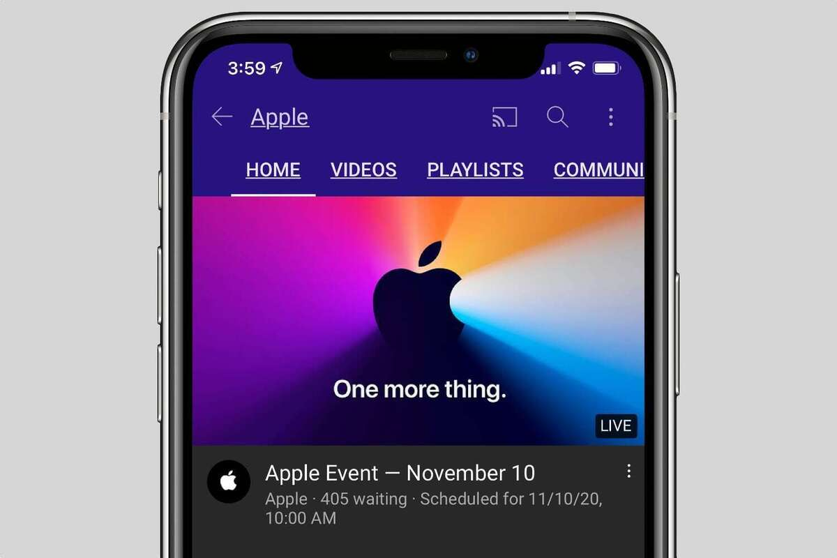 apple event nov10 iphone youtube
