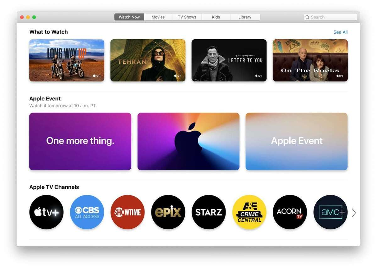 apple tv mac app nov 10 event