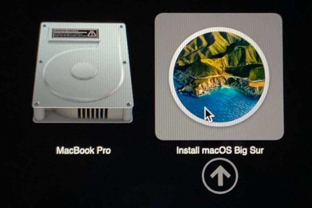 big sur installer usb select startup disk