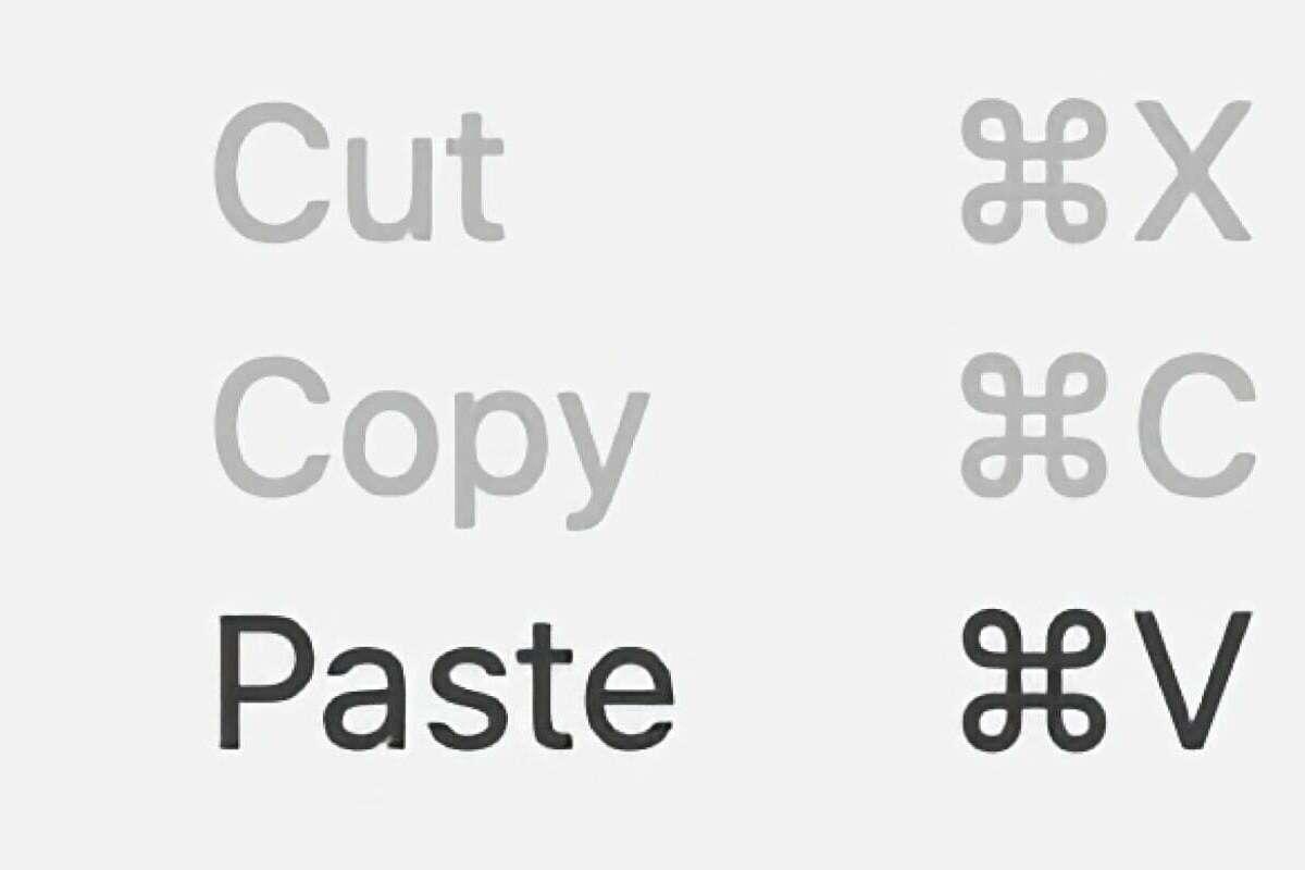 cut copy paste mac