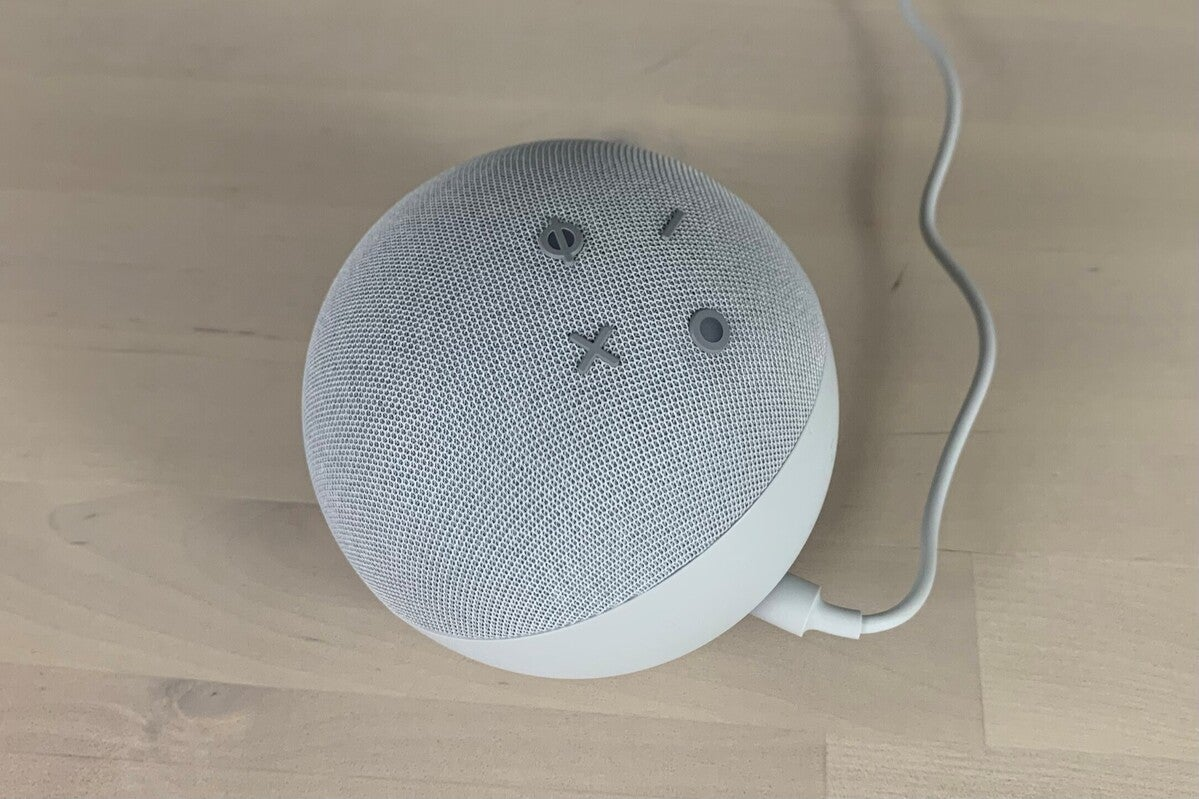 echo dot with clock top buttons