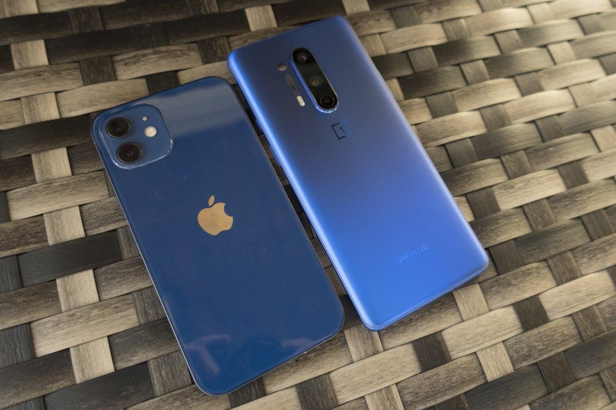 iphone oneplus blue
