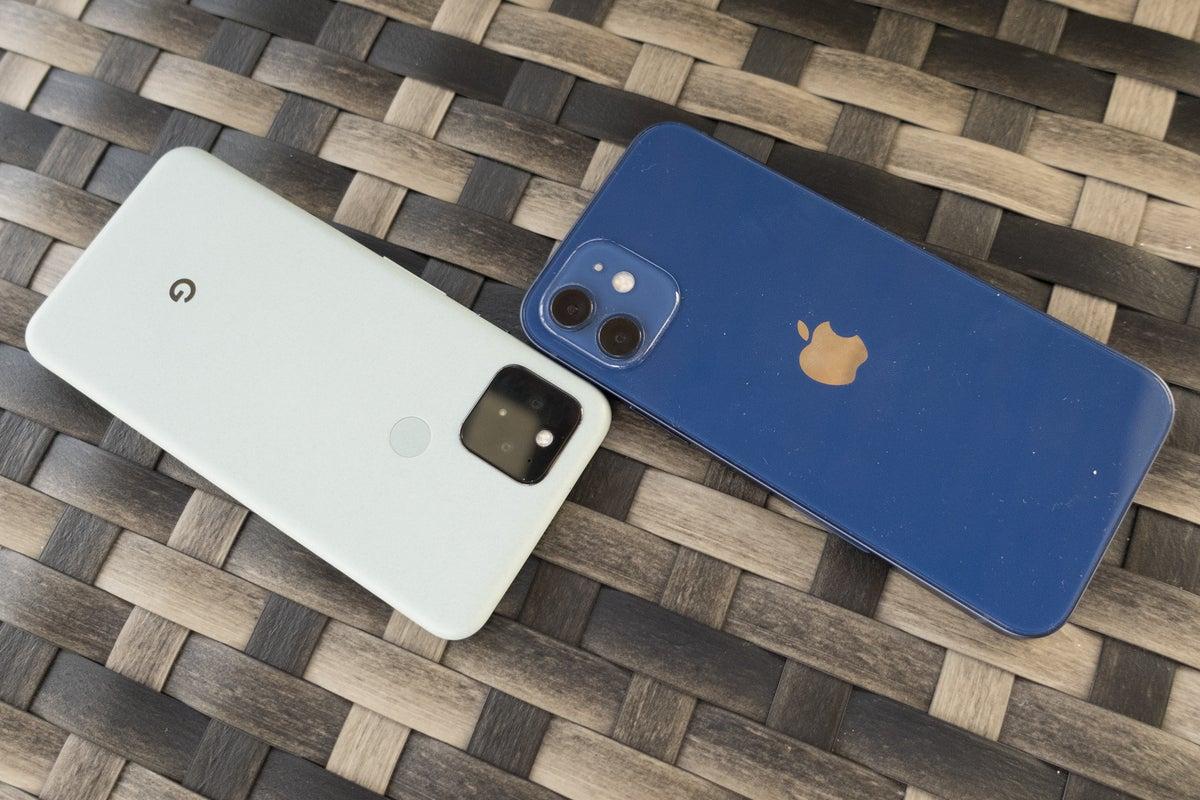 iphone pixel 5 colors