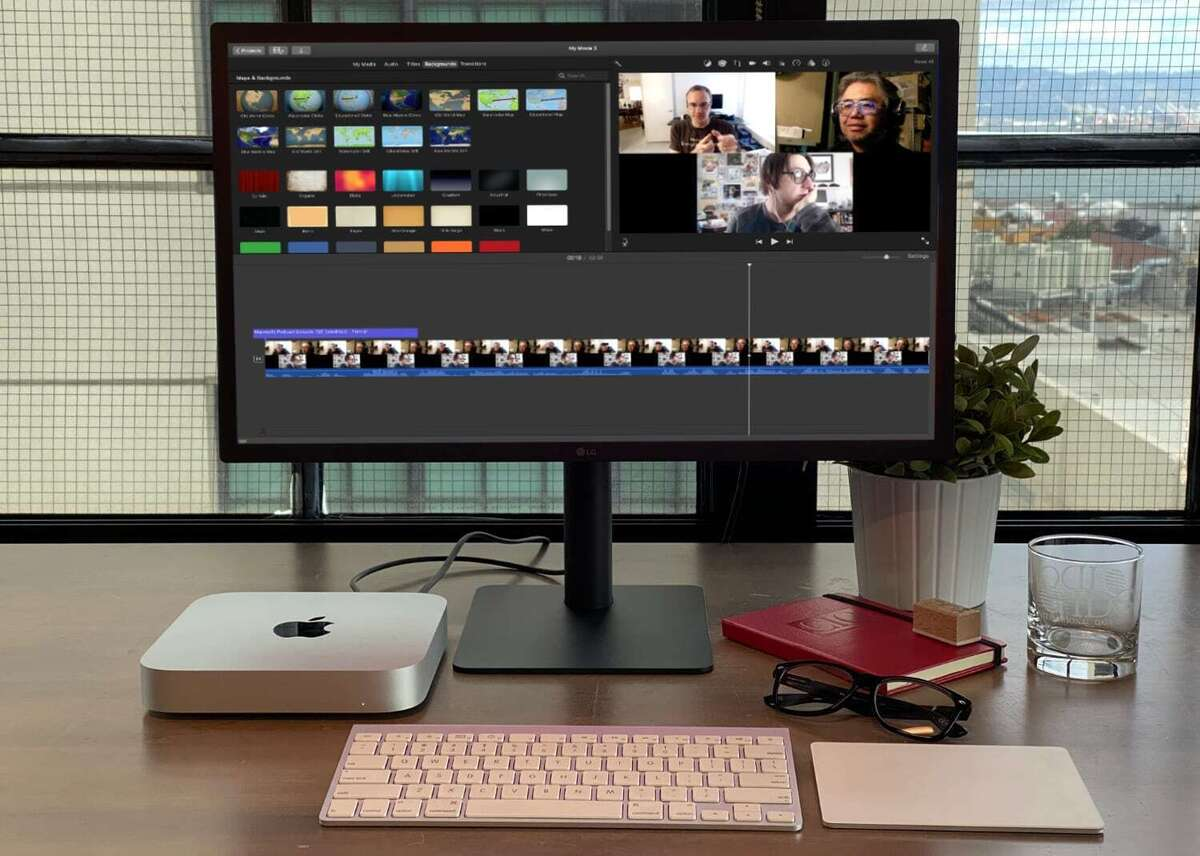 m1 mac mini display imovie