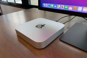 m1 mac mini top angle