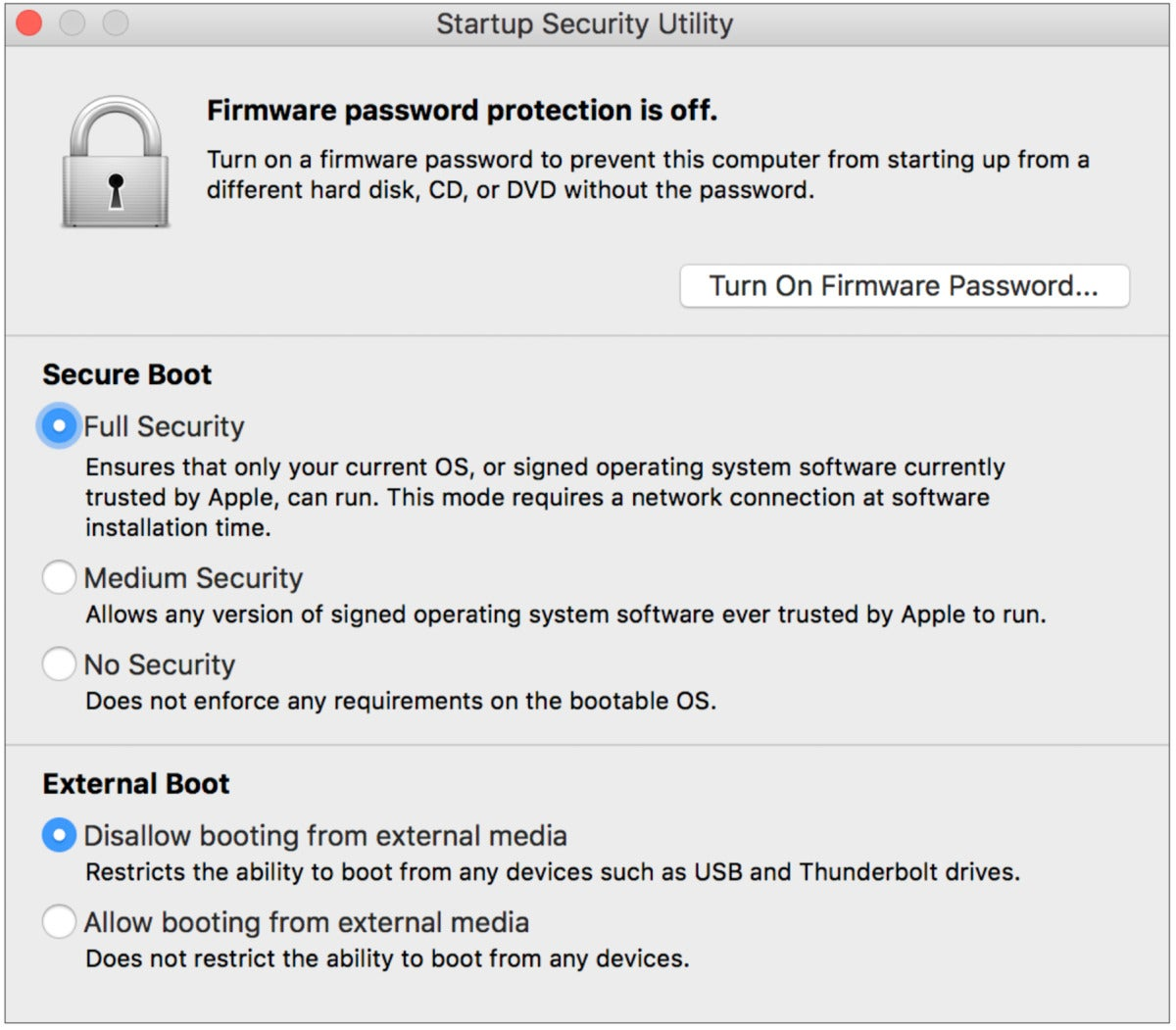 mac911 secure startup manager macos
