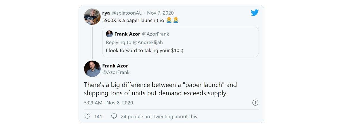 paper launch azor