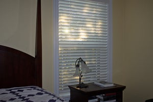 serena wood blind installed