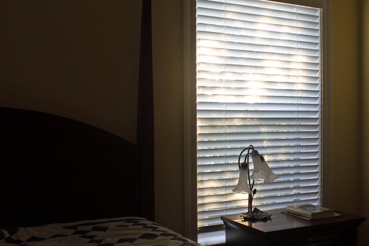 serena wood blind installed 2