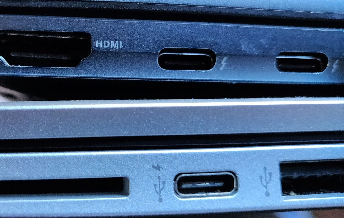 thunderbolt laptops one wrong one right