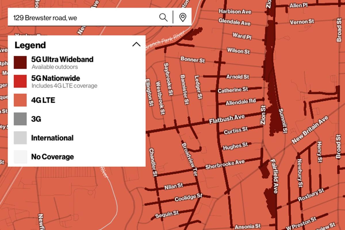 verizon 5g uwb coverage map