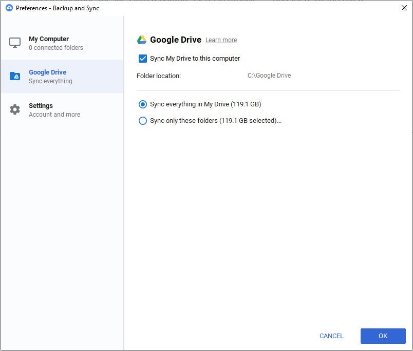 01b google drive fixes backup and sync