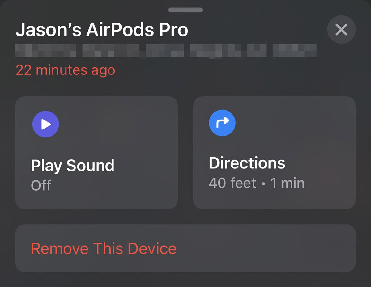 airpods find my