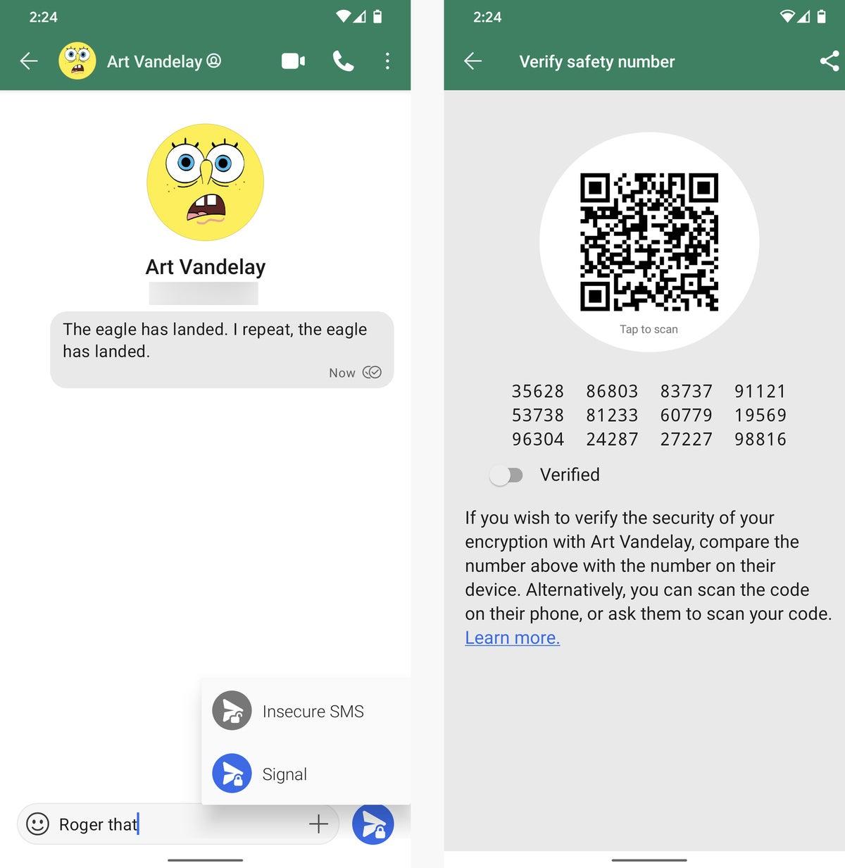 señal de aplicaciones de mensajes de texto de correo electrónico de Android