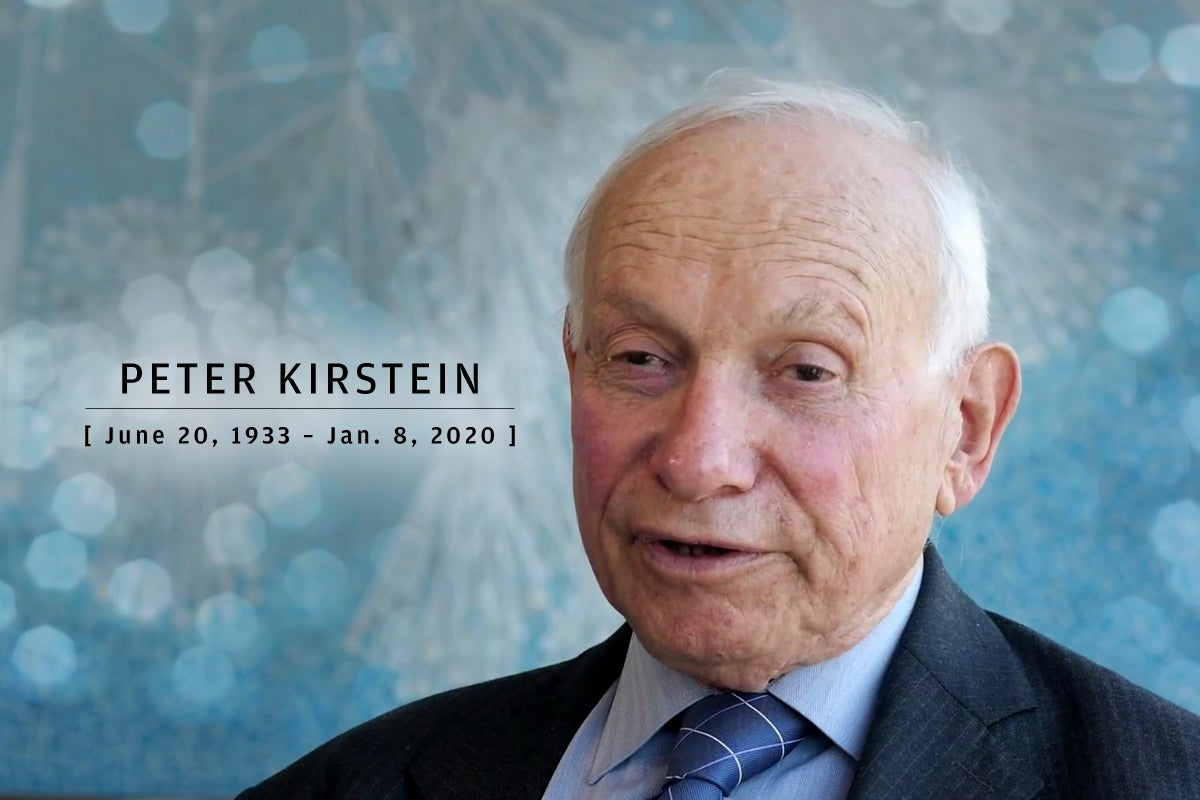 CW  >  In Memoriam 2020  >  Peter Kirstein (June 20, 1933 – Jan. 8, 2020)