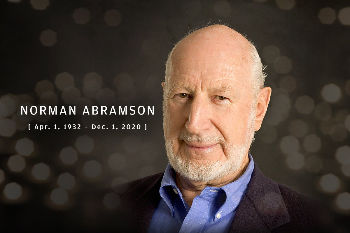 CW  >  In Memoriam 2020  >  Norman Abramson (Apr. 1, 1932 – Dec. 1, 2020)