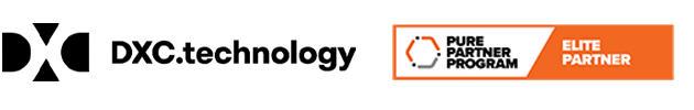 dxc purestoragepartner logos