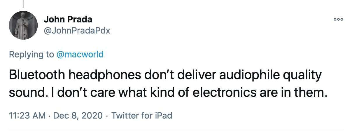johnpradapdx توییتر airpods حداکثر