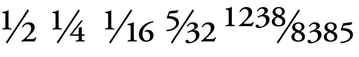 mac typog fancy fractions