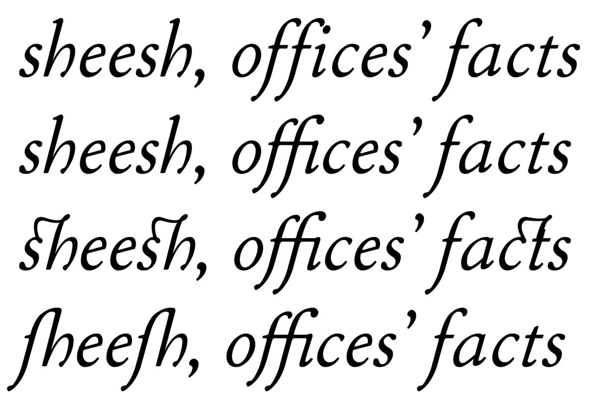 mac typog ligatures