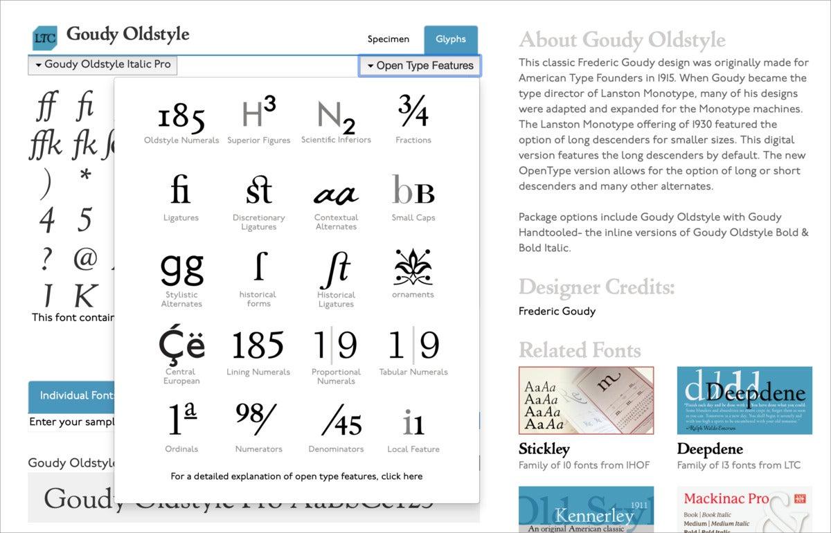 mac typog p22 opentype