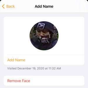 mac911 homekit face add