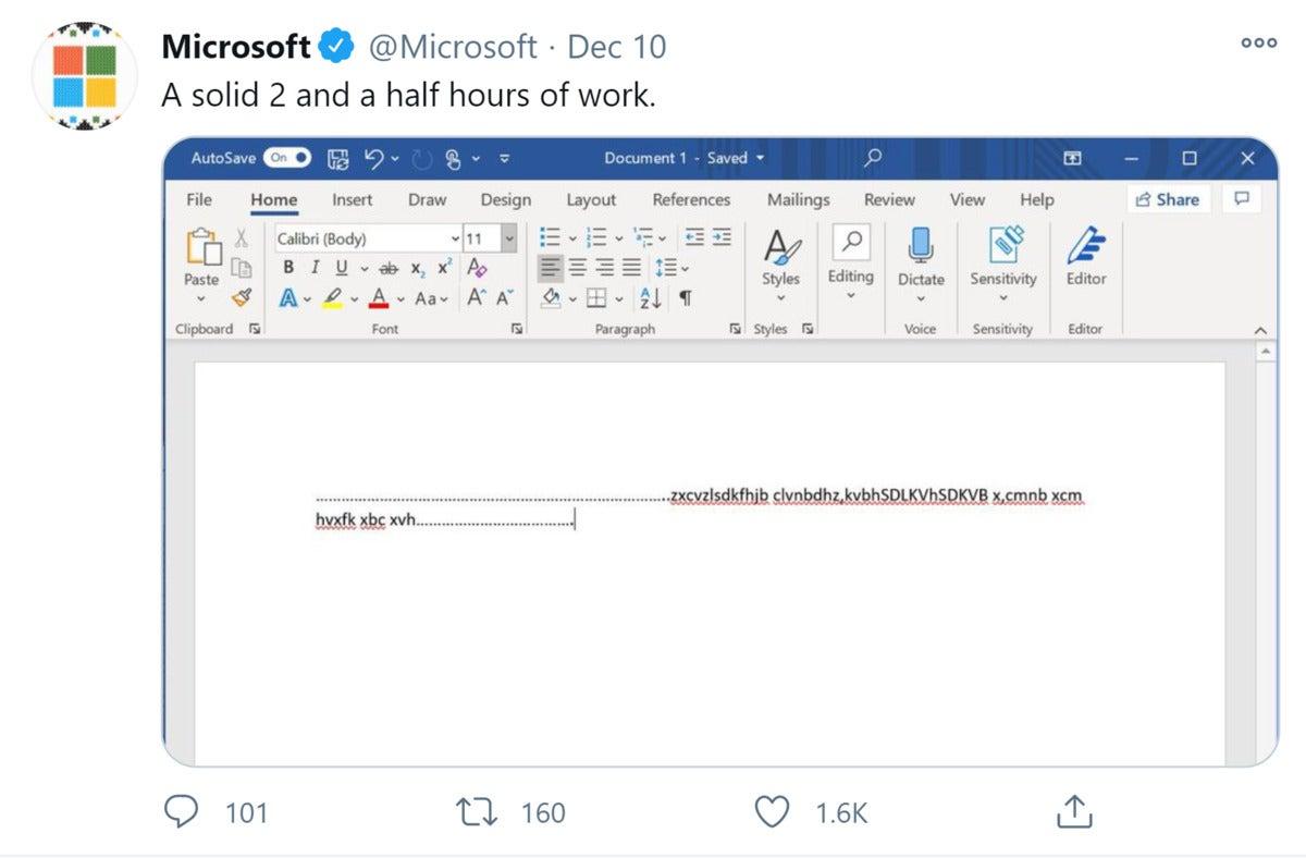microsoft twitter feed